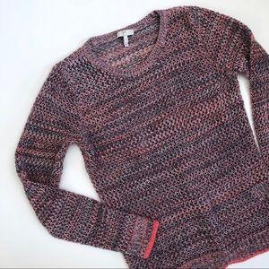 Joie Multi-color Open Knit Sweater